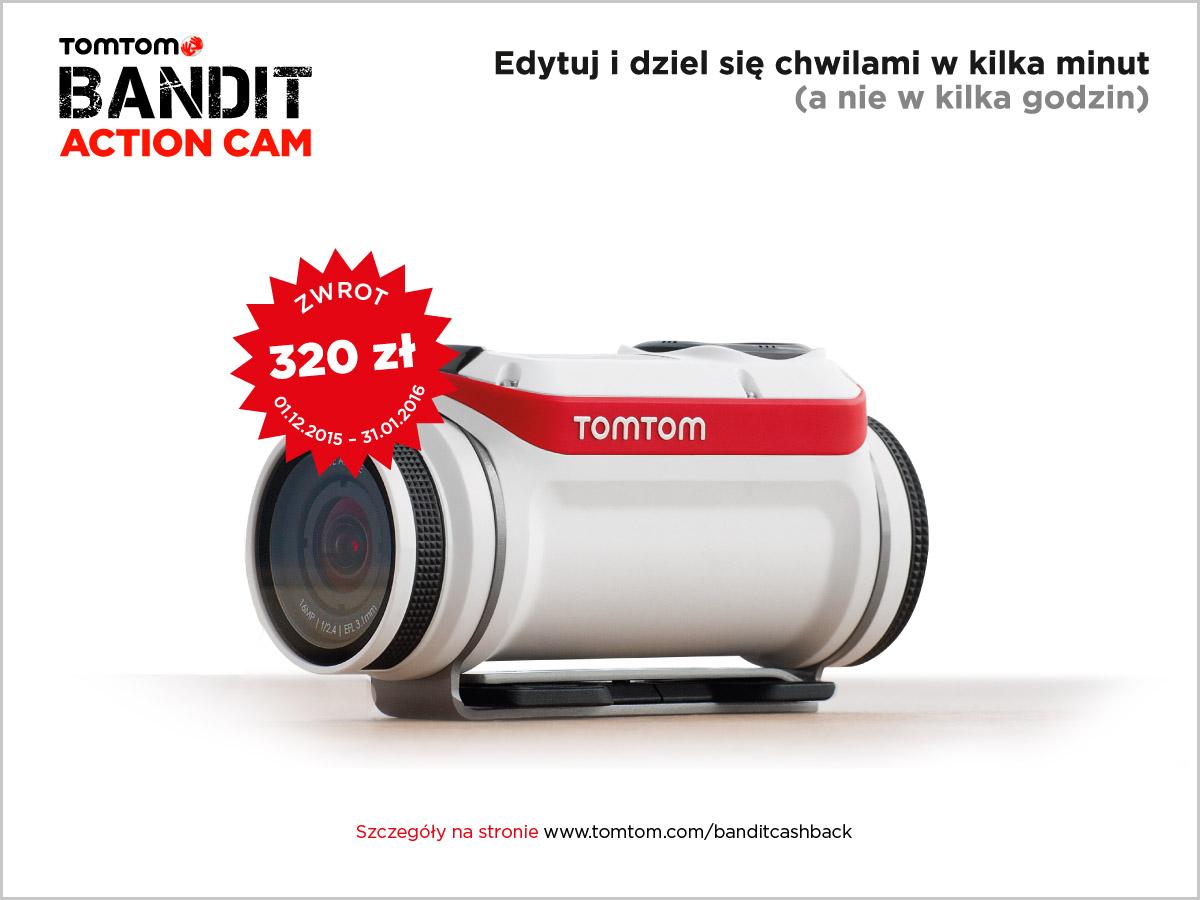 Kup kamerę Tomtom Bandit i otrzymaj 320 zł zwrotu!