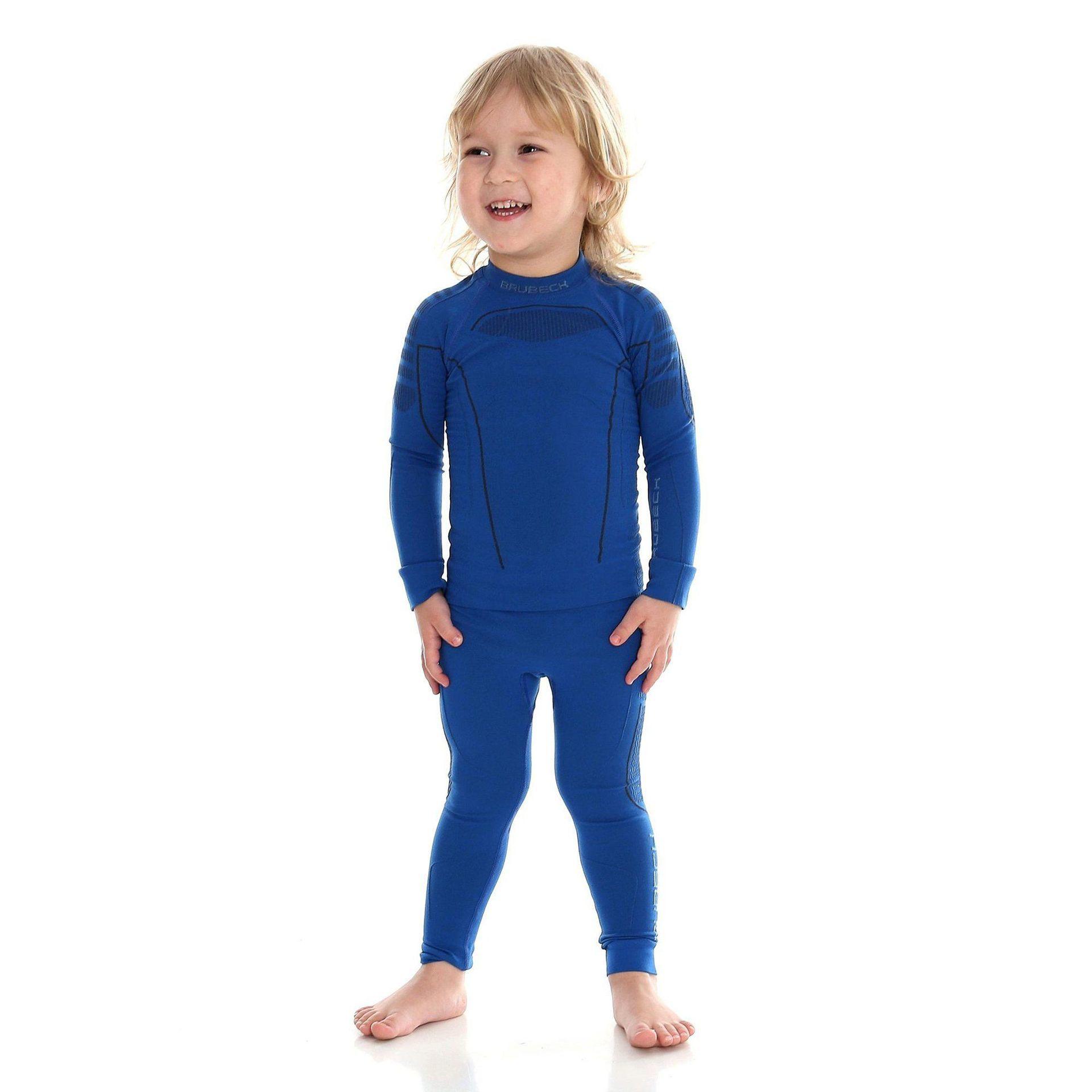 BLUZA BRUBECK THERMO JR LS13660 BLUE