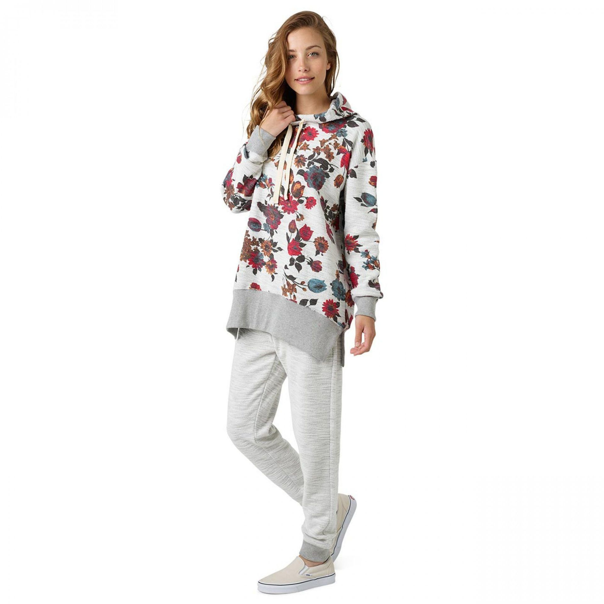 BLUZA BURTON FEARNOW PULLOVER GREY HEATHER WILD FLOWERS 1