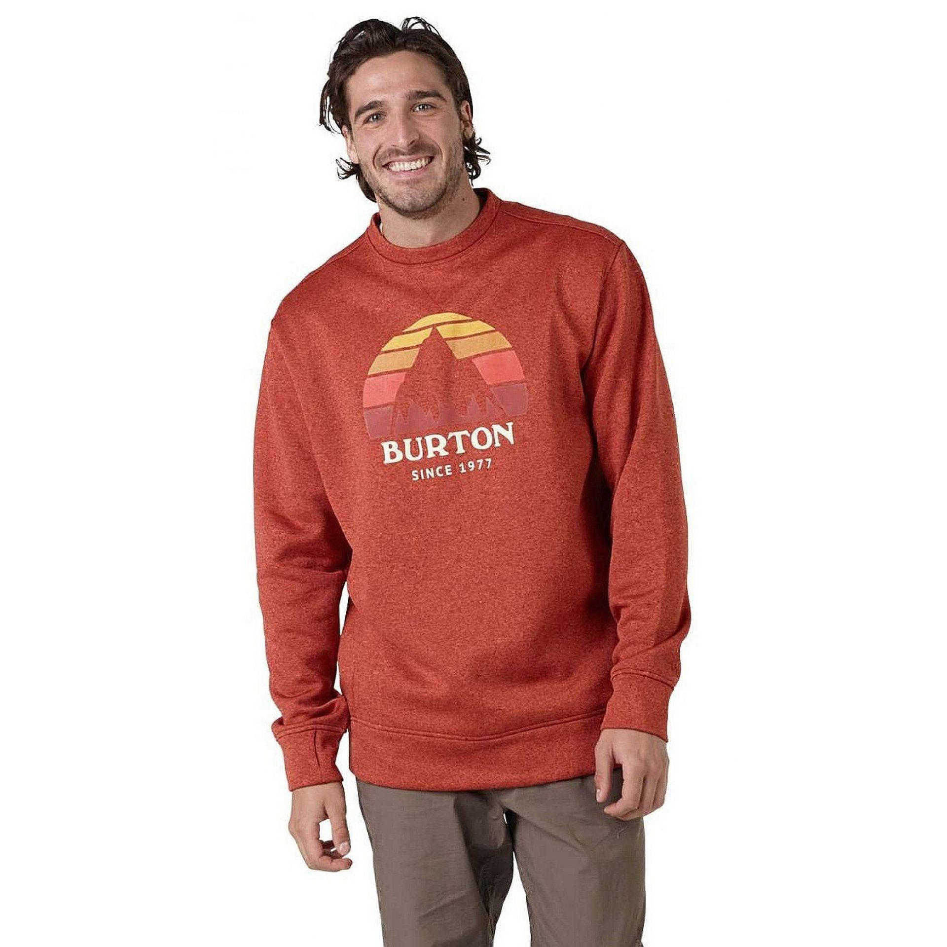 BLUZA BURTON OAK CREW BOSSA NOVA HEATHER 1
