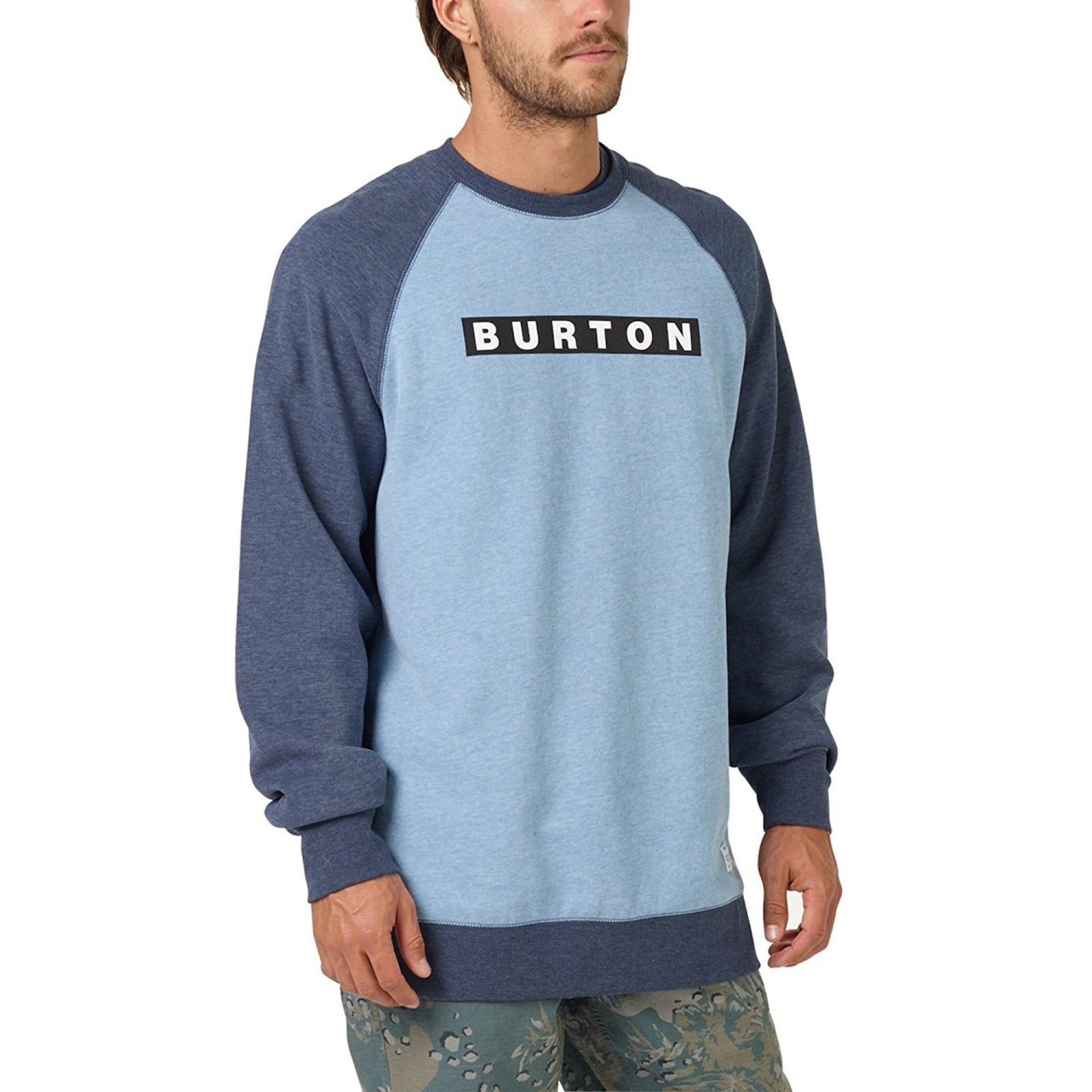 BLUZA BURTON VAULT CREW BLUE HEAVEN HEATHER 1
