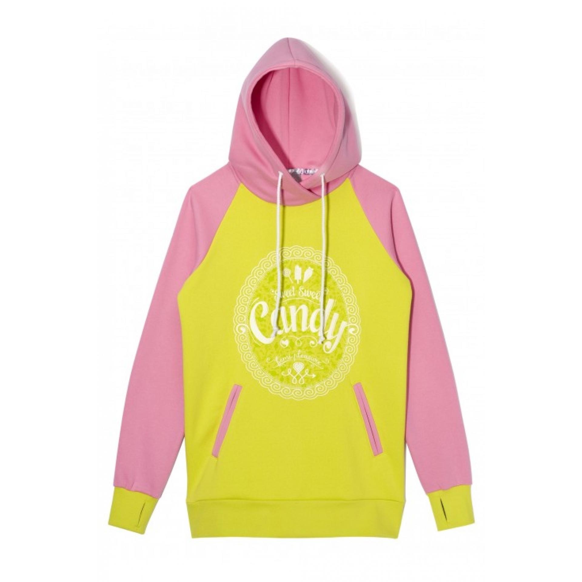 Bluza Femi Pleasure Candy różowa limonkowa