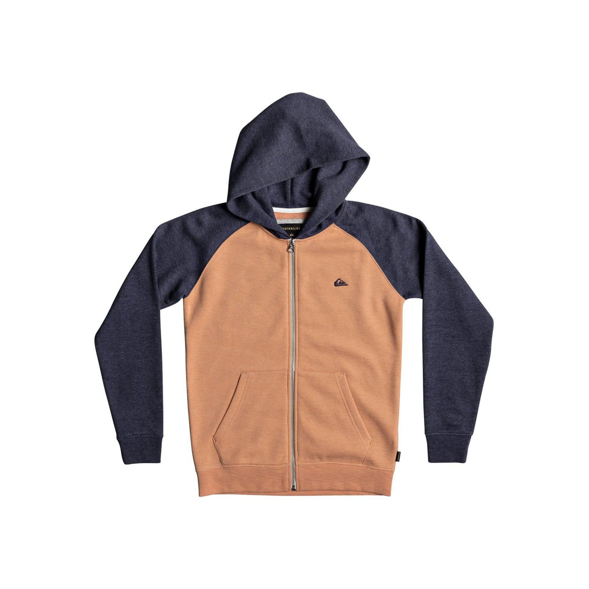 BLUZA QUIKSILVER EVERYDAY ZIP-UP HOODIE  CADMIUM ORANGE HEATHER