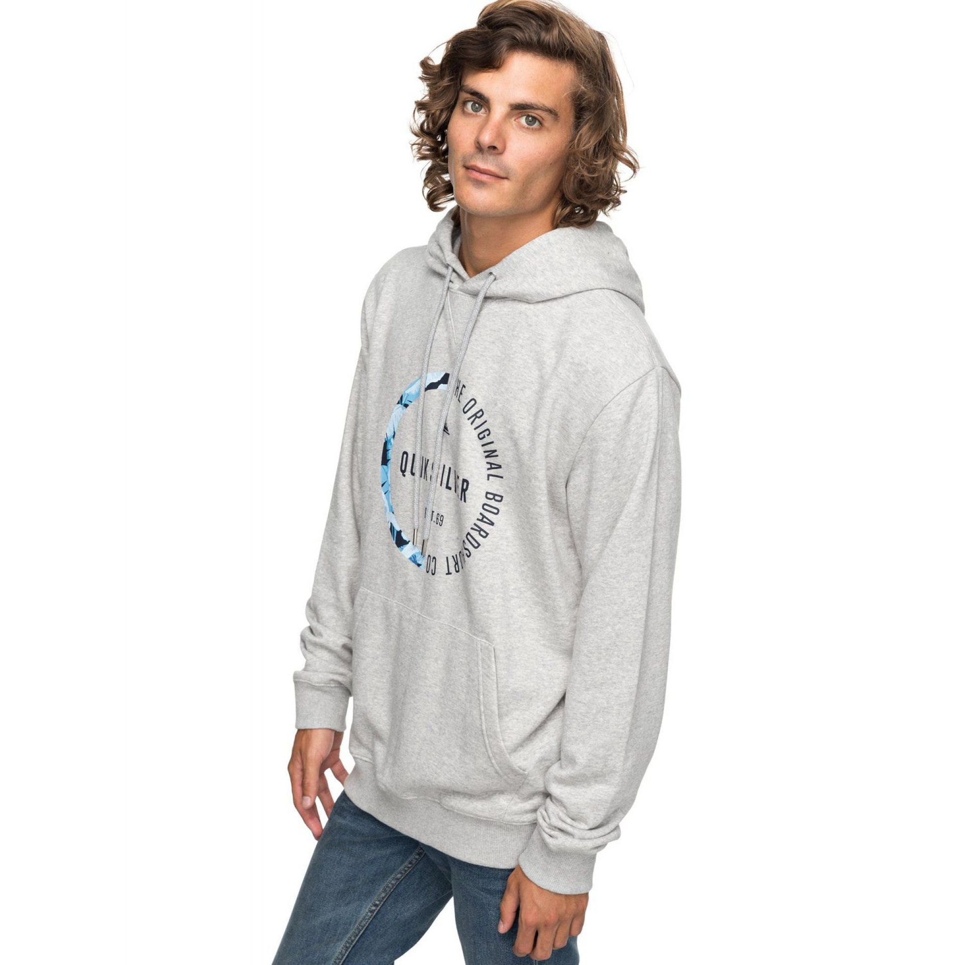 BLUZA QUIKSILVER REVENGE  LIGHT GREY HEATHER