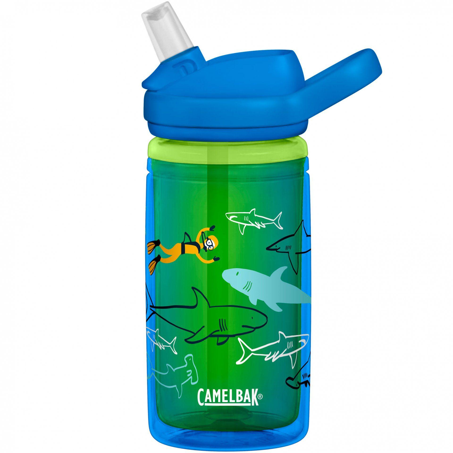 BUTELKA CAMELBAK EDDY+ KIDS INSULATED SCUBA SHARKS BLUE GREEN 1