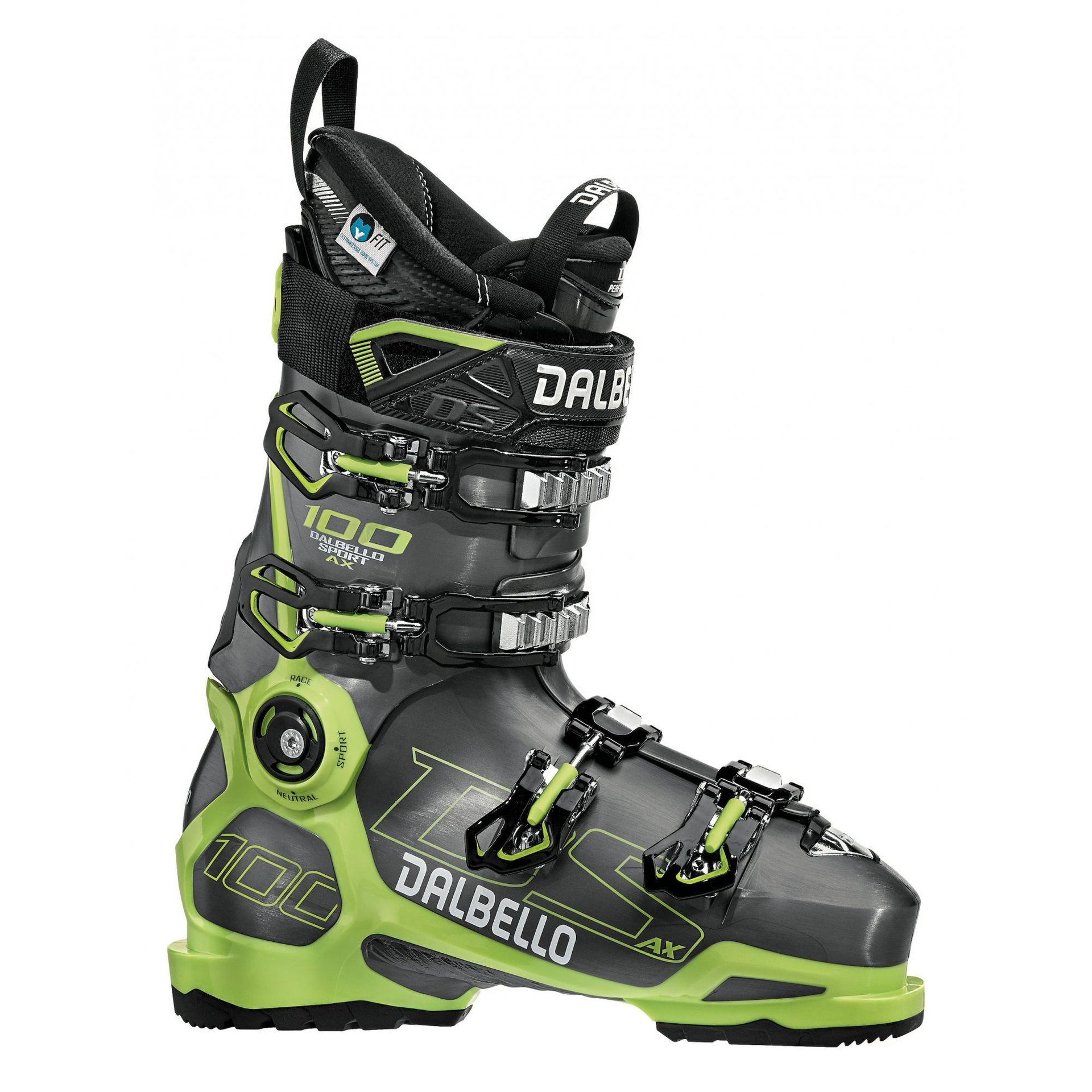 BUTY NARCIARSKIE DALBELLO DS AX 100 ANTHRACITE|ACID YELLOW D1804002-00