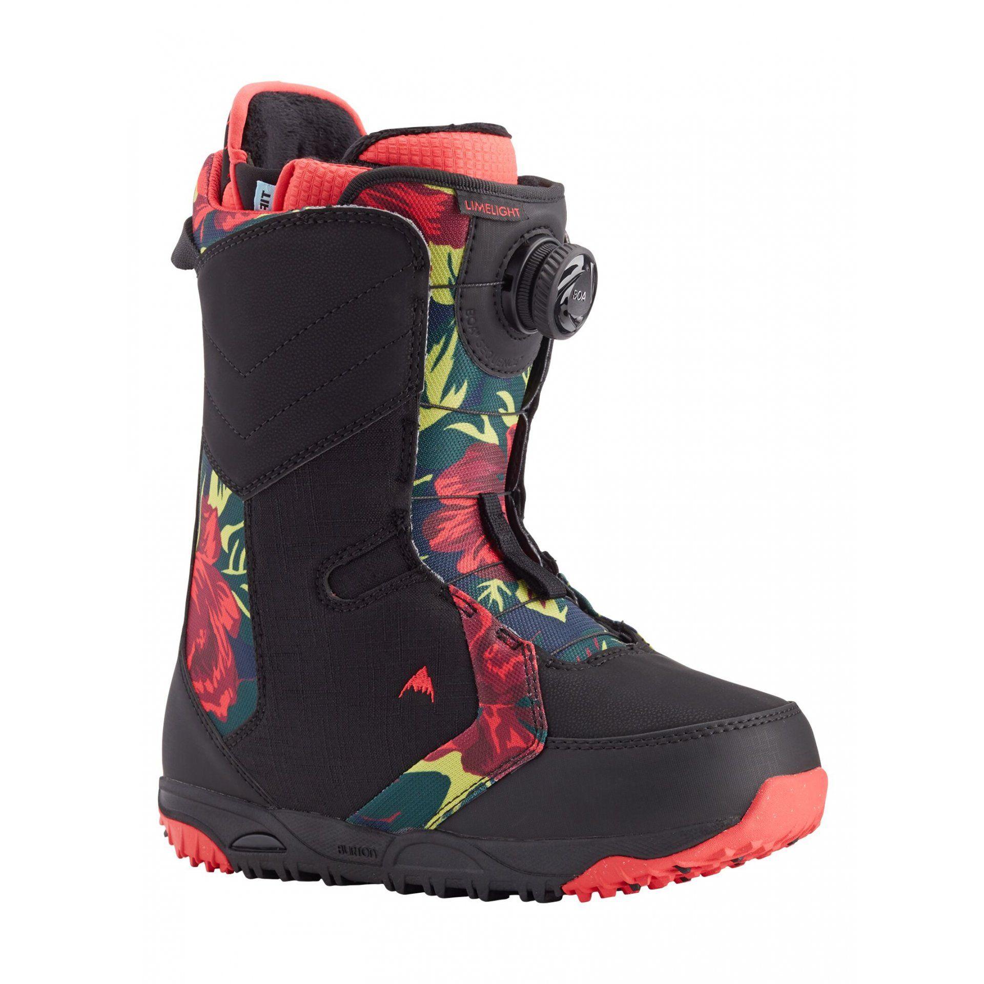 BUTY SNOWBOARDOWE BURTON LIMELIGHT BOA 150871-002 BLACK FLORAL 1
