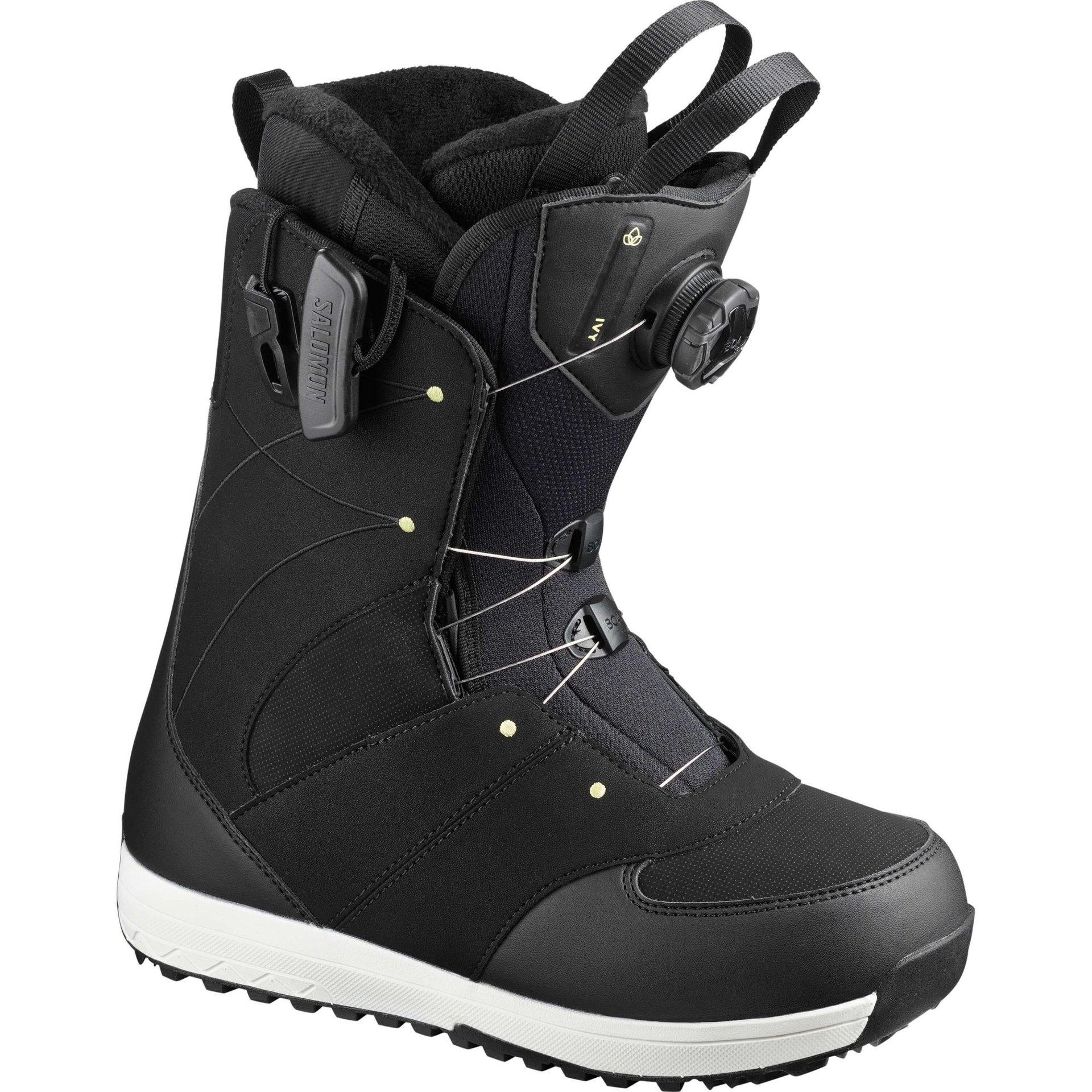 Buty Snowboardowe Salomon Ivy Boa Sj 2020 Czarny Snowshop Pl