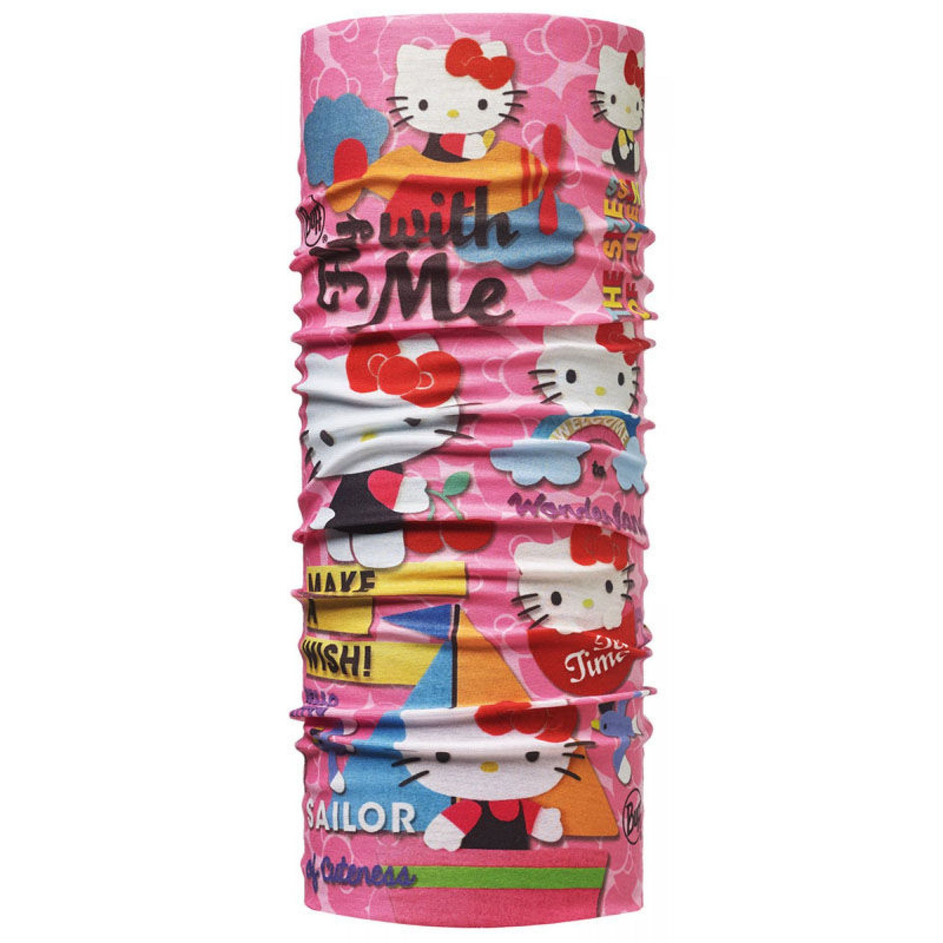 CHUSTA BUFF ORIGINAL JUNIOR HELLO KITTY WONDERLAND PINK