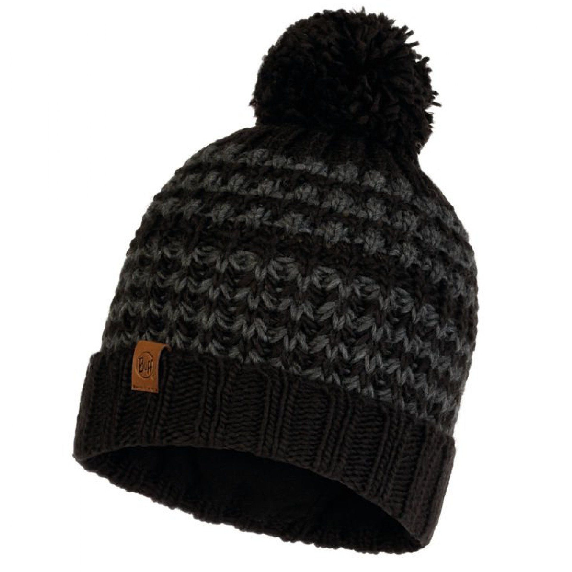 CZAPKA BUFF KNITTED AND FLEECE HAT KOSTIK BLACK