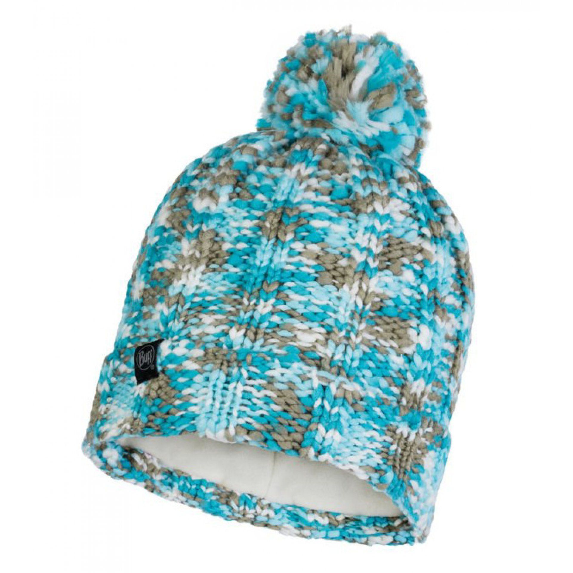 CZAPKA BUFF KNITTED AND FLEECE HAT LIVY AQUA