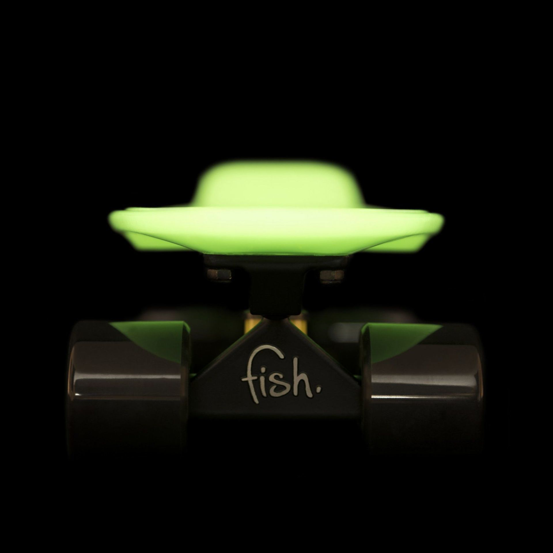 FISHBOARD FISH SKATEBOARDS CLASSIC GLOW GREEN|BLACK 4