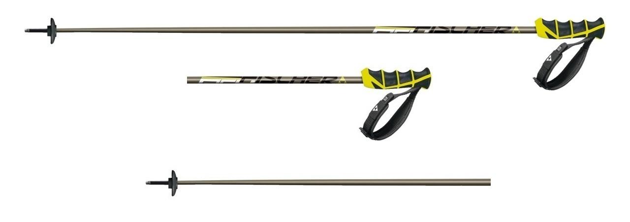 Kijki narciarskie Fischer RC4 Carbon czarny|żółty