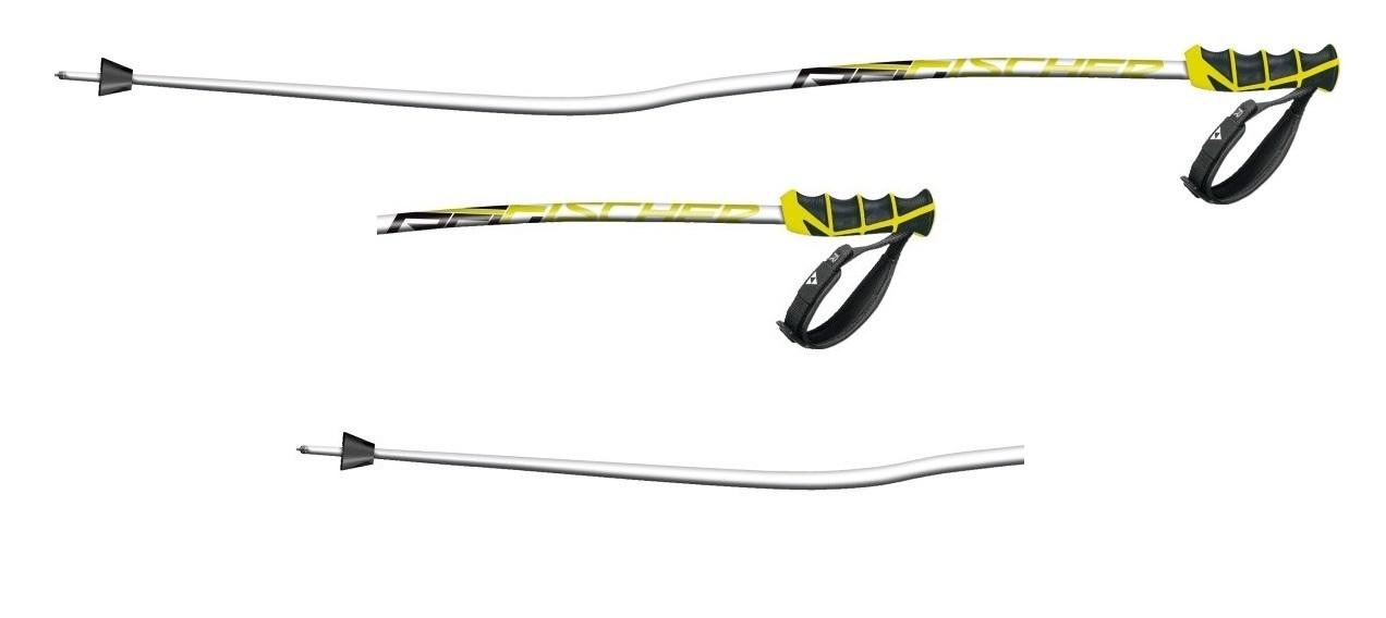 Kijki narciarskie Fischer Rc4 worldcup rc biały|żółty