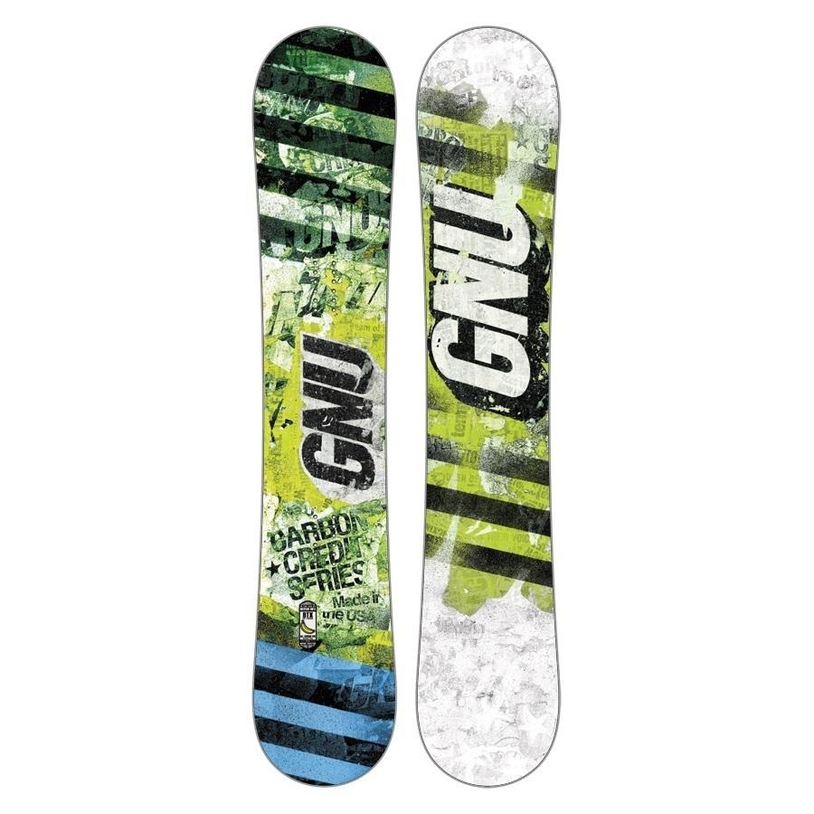 Snowboard Gnu Carbon Credit zielony