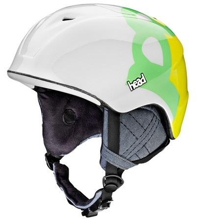 Kask Head Rebel zielony biały