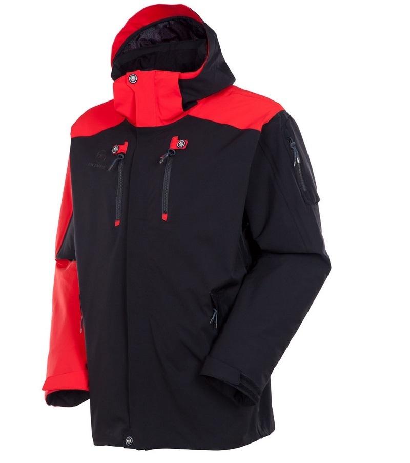 Kurtka narciarska Rossignol Super Hornet czarny|czerwony