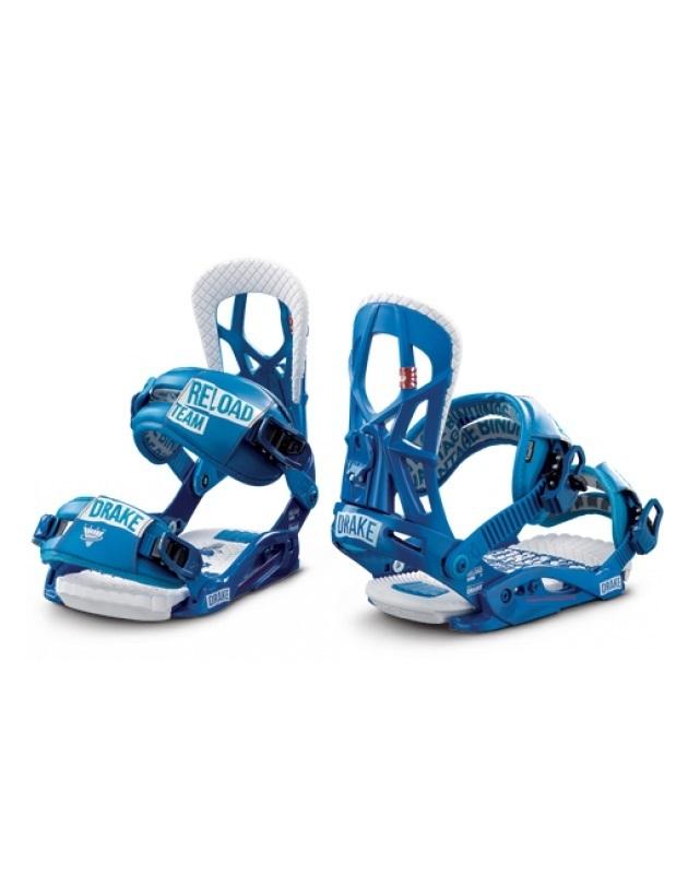 Wiązania snowboardowe Drake Reload niebieskie