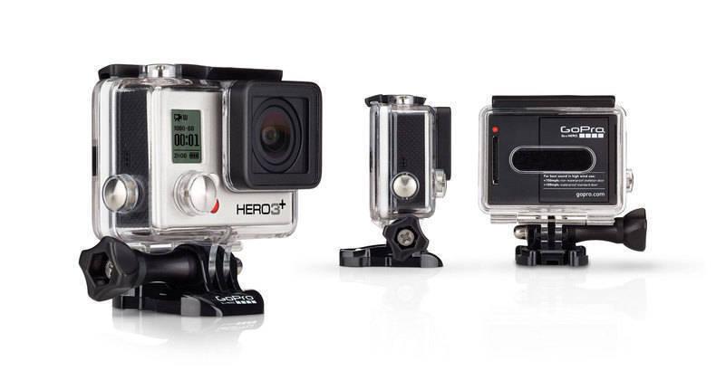 Kamera Go Pro Hero 3+ Silver Edition całość