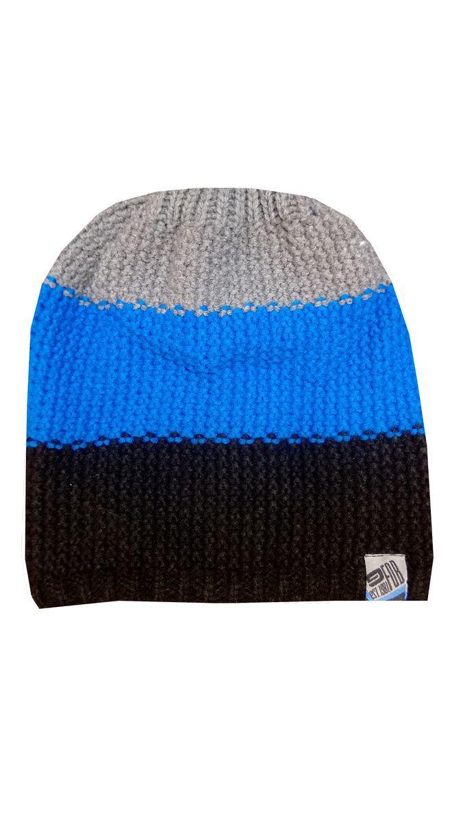 Czapka FOB CAM001 czarno niebiesko szara