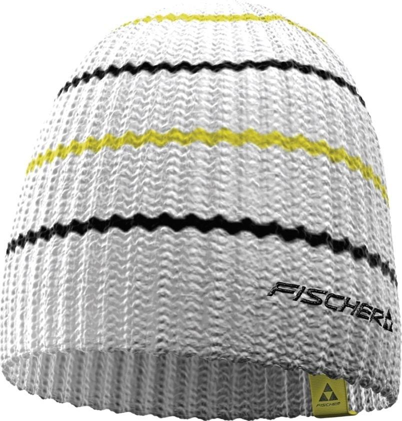 Czapka Fischer Long Stripes biała