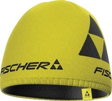 Czapka Fischer Beanie  Logo żółta