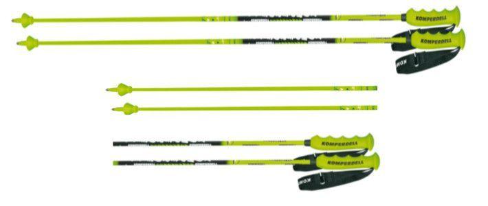 Kije narciarskie Komperdell NT Carbon GS 12.3 zielony
