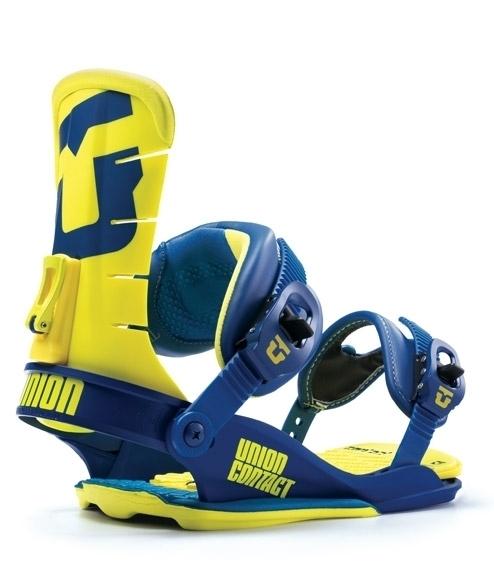 Wiązania snowboardowe Union Contact niebiesko żółte