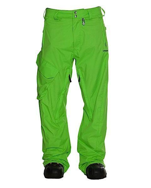 Spodnie Volcom Ventral limonkowe