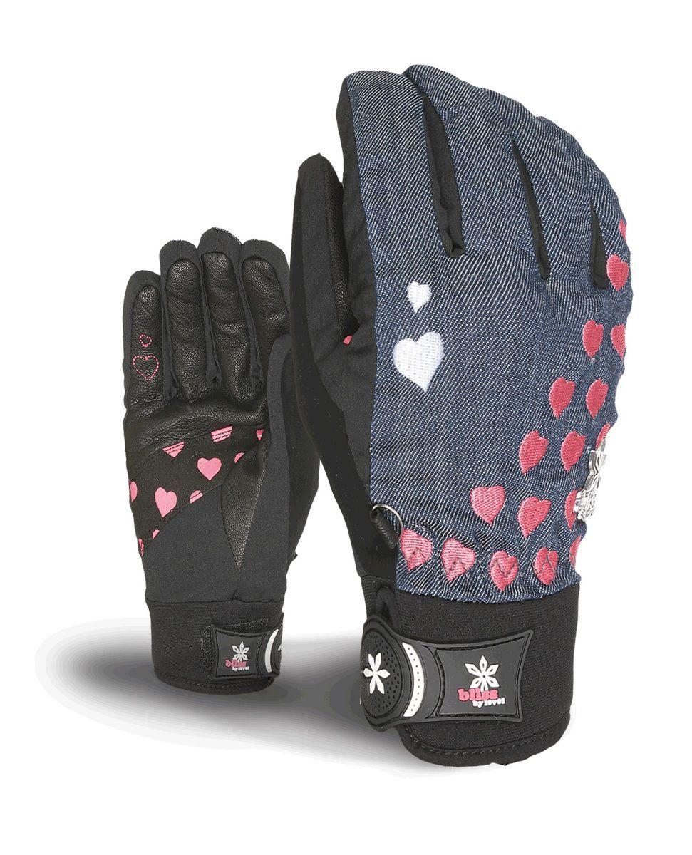 Rękawice Level Bliss Sweety Pipe czarno|granatowo|różowe