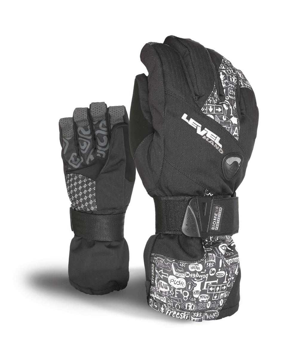 Rękawice Level Half Pipe XCR czarno białe