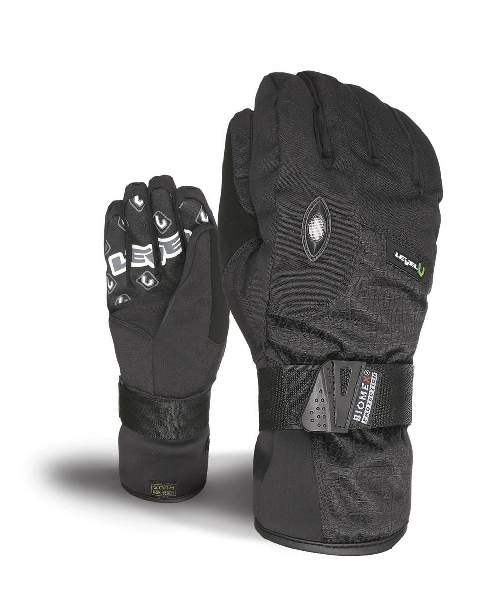 Rękawice Level Fly short czarne