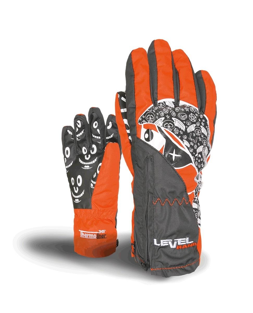 Rękawice Level Lucky czarno|czerwono|białe