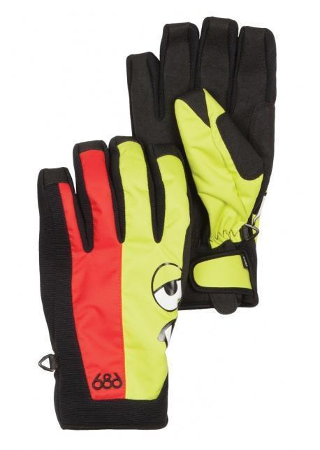 Rękawice 686 Snaggleface Pipe czarny|czerwony|żółty