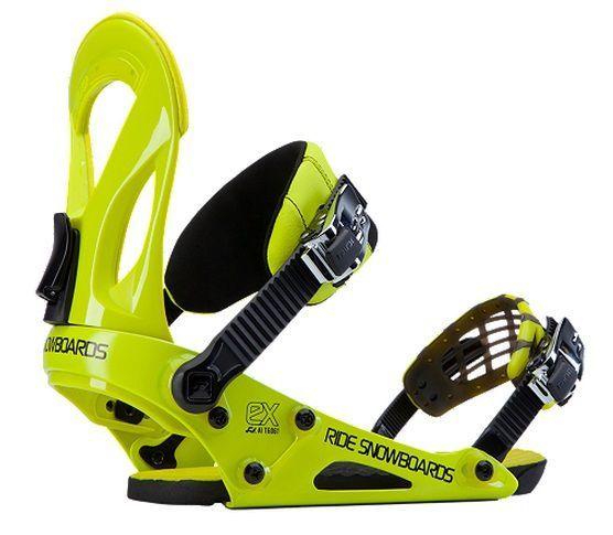 Wiązania snowboardowe Ride EX żółte