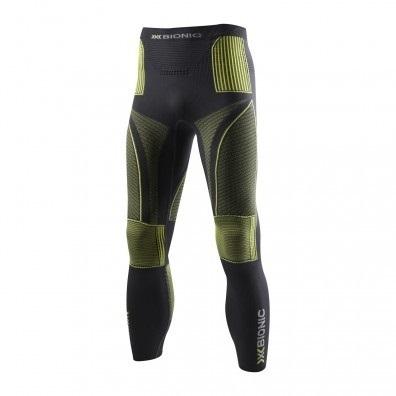 Spodnie długie X-Bionic Evo czarno|limonkowe
