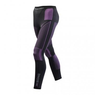Spodnie długie X-Bionic Evo czarno|fioletowe