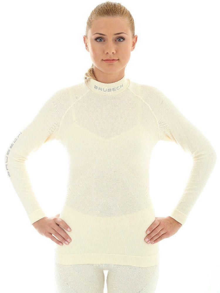 Bluza z długim rękawem Brubeck Extreme Merino Lady biała