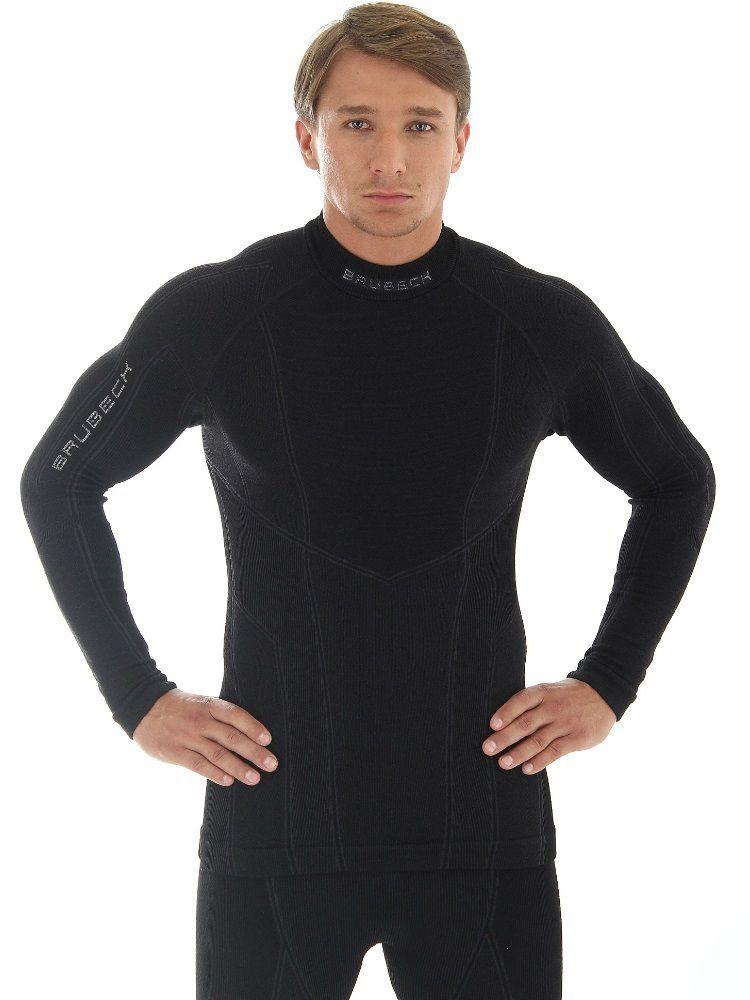 Bluza z długim rękawem Brubeck Men Extreme Merino czarna
