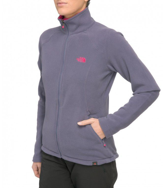 Polar The North Face  Women's 100 Glacier Full Zip szary