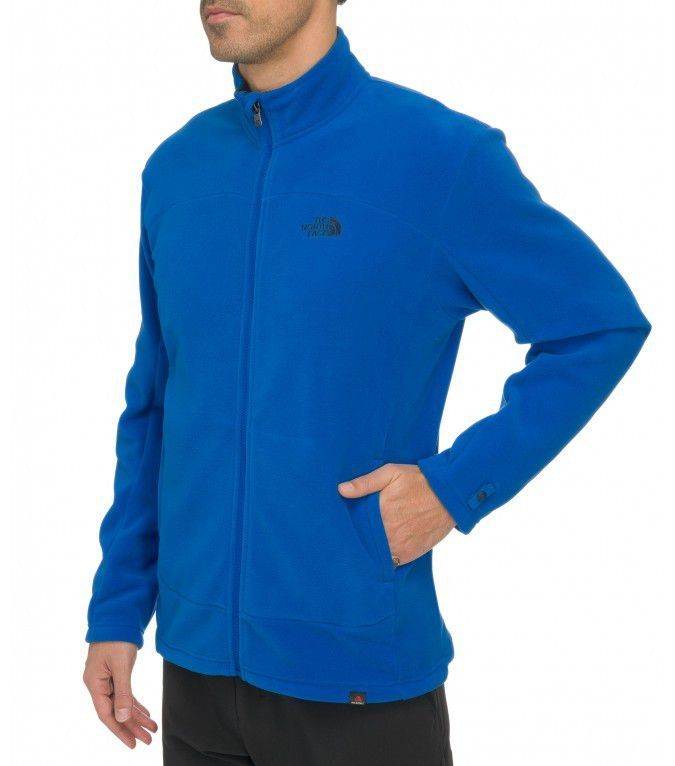 Polar The North Face  Men's 100 Glacier Full Zip niebieski