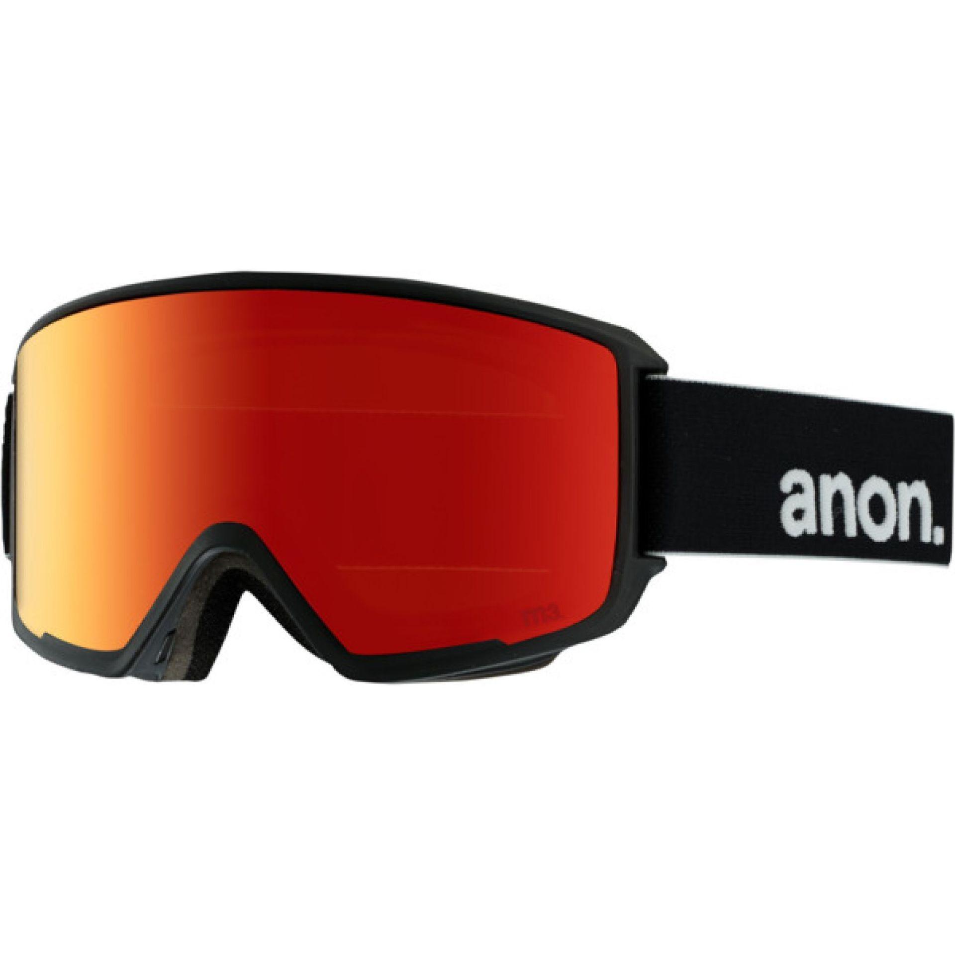 GOGLE ANON M3 BLACK RED SOLEX
