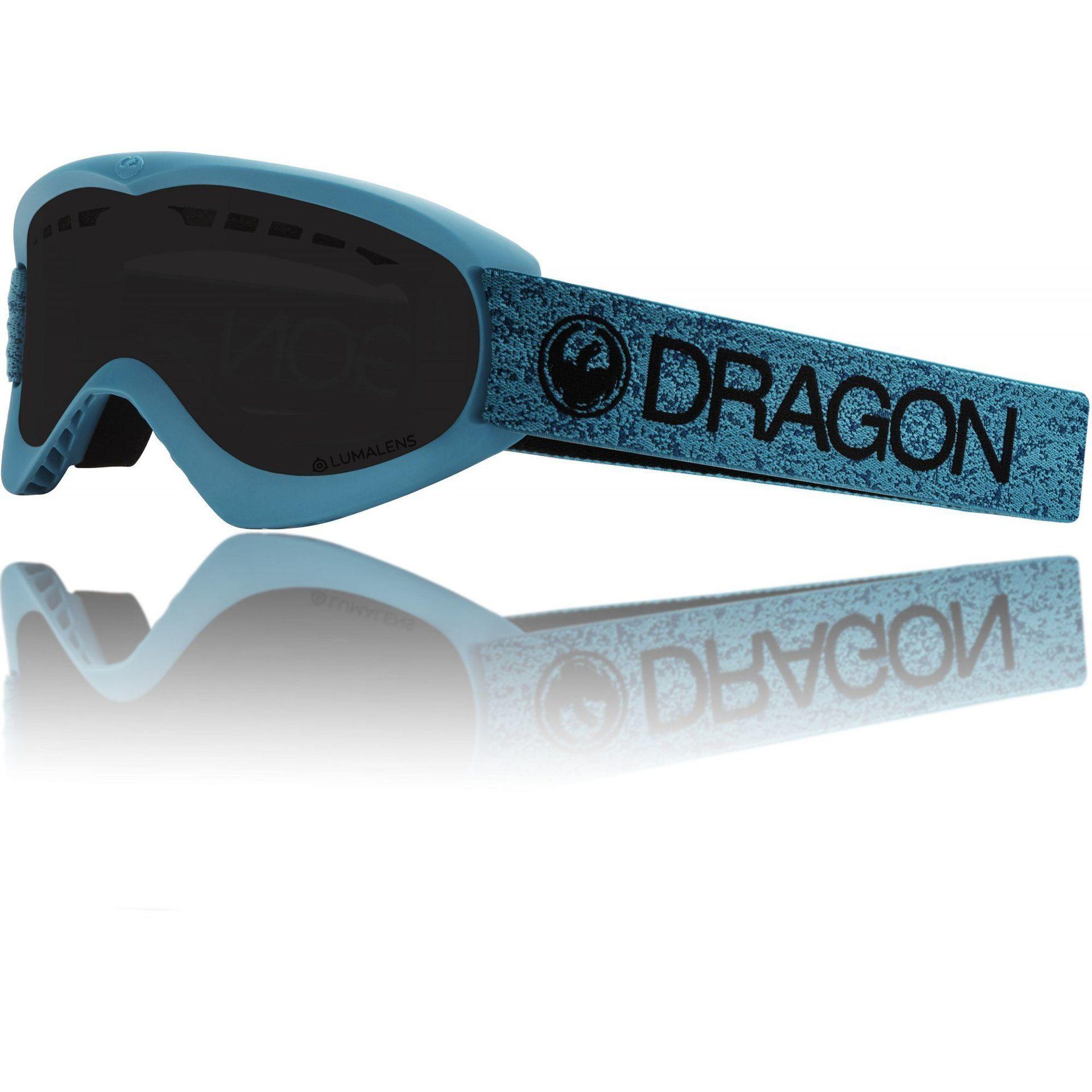 GOGLE DRAGON DX BLUE|DARK SMOKE
