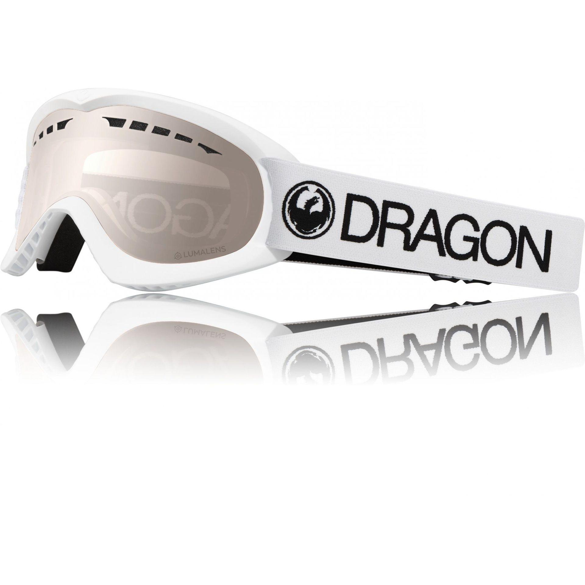 GOGLE DRAGON DX WHITE|SILVER ION