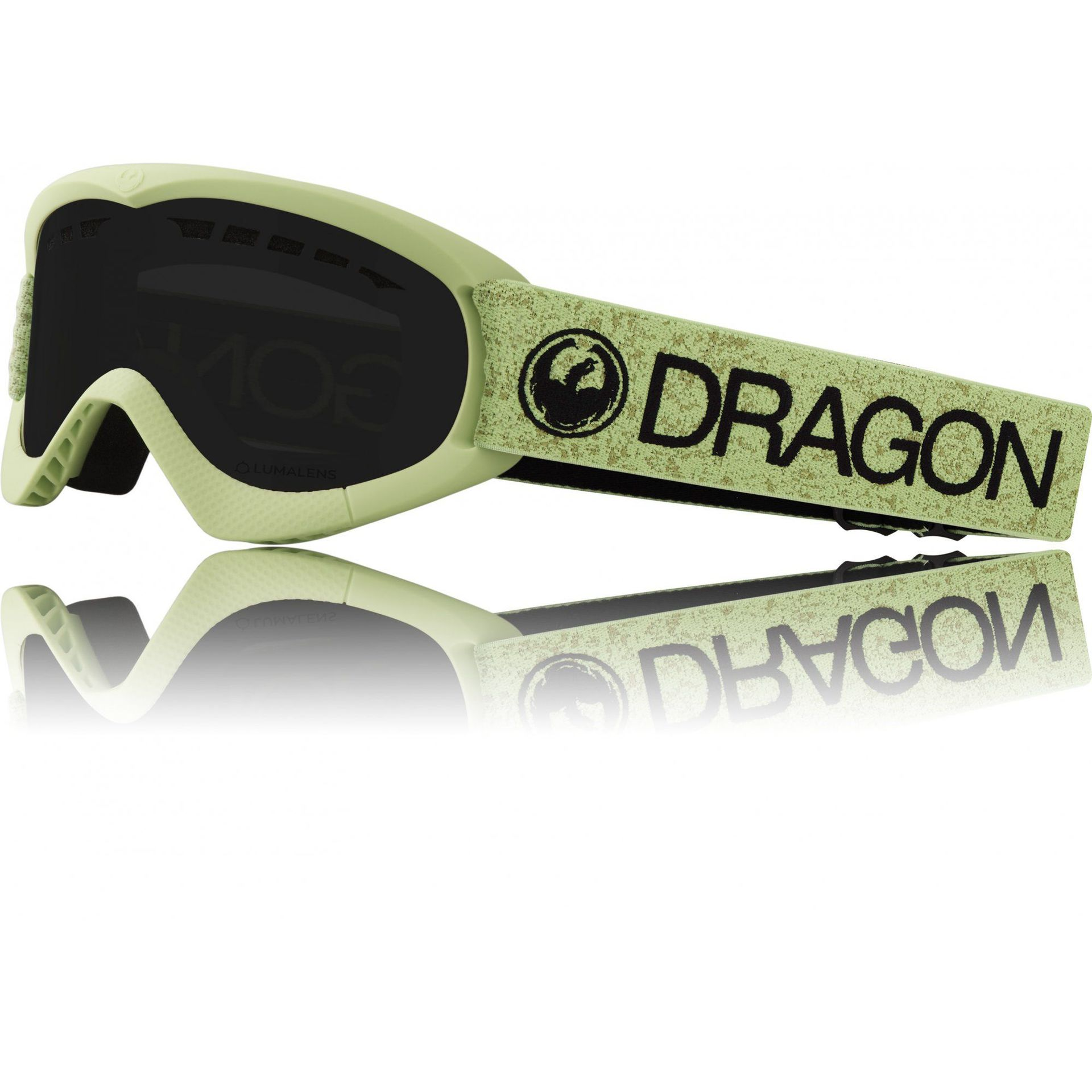 GOGLE DRAGON DXS GREEN|DARK SMOKE