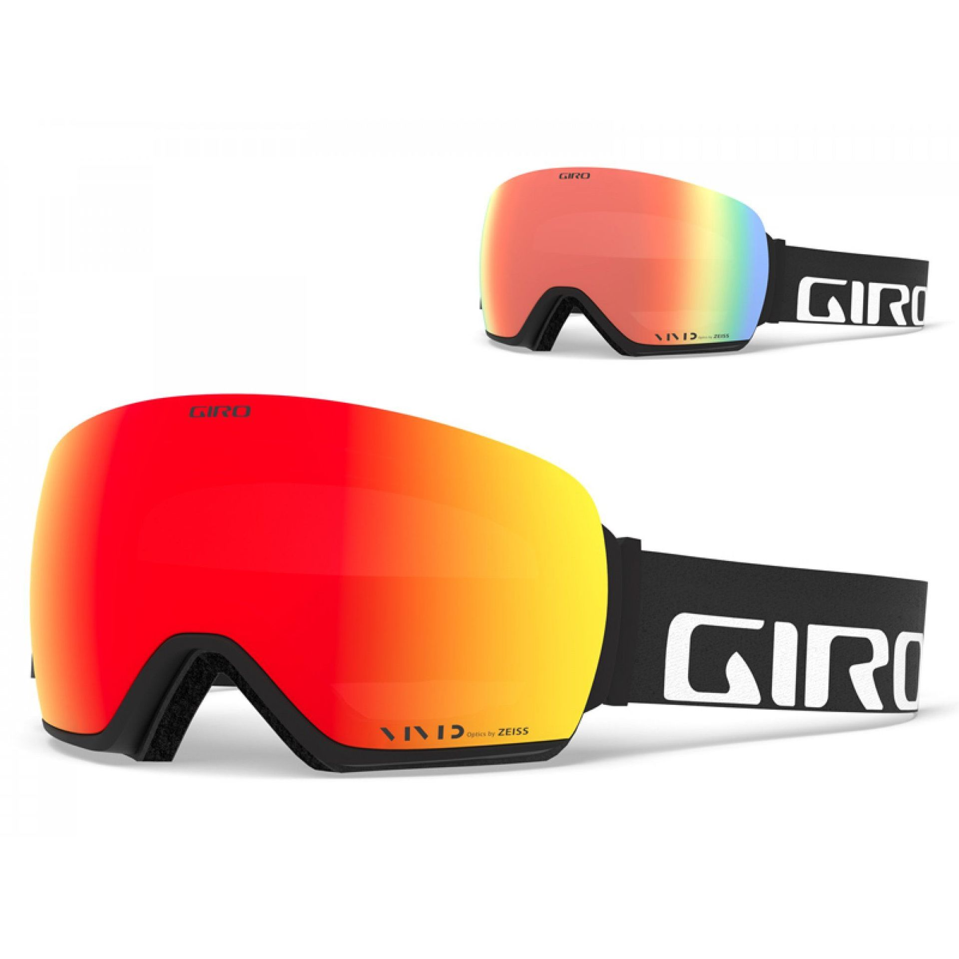 GOGLE GIRO ARTICLE BLACK WORDMARK|VIVID EMBER+VIVID INFRARED