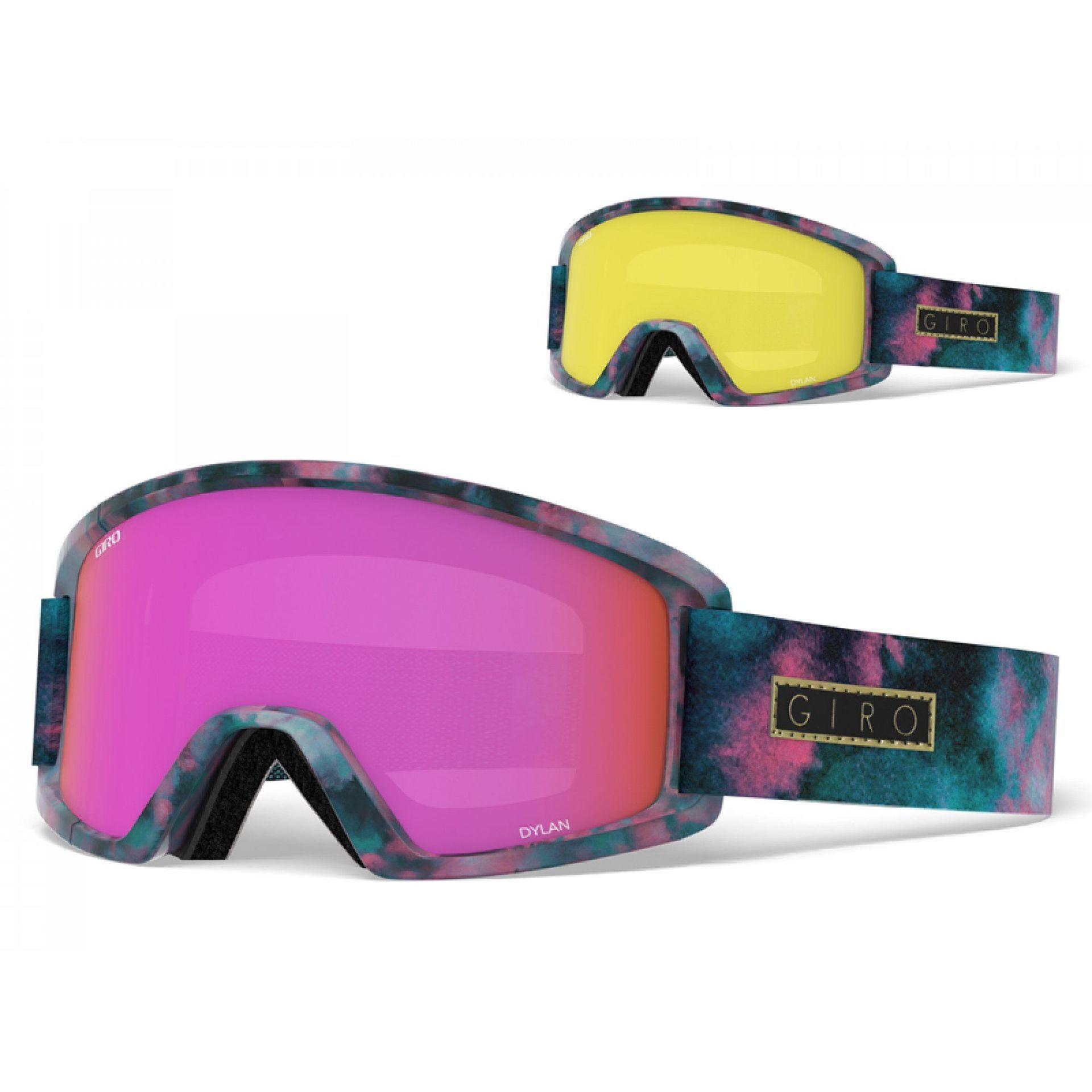 GOGLE GIRO DYLAN BLEACHED OUT|AMBER PINK+YELLOW