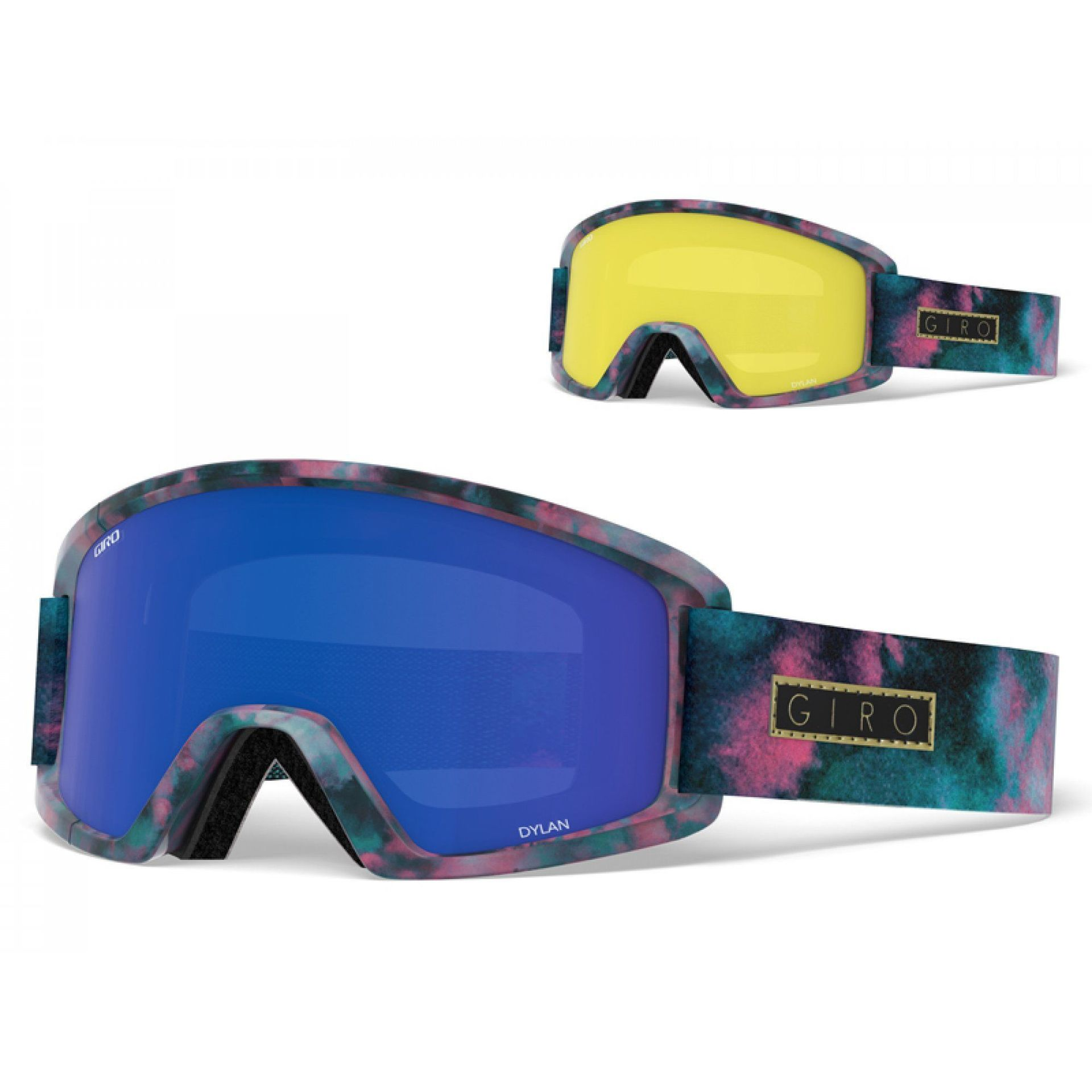 GOGLE GIRO DYLAN BLEACHED OUT|GREY COBALT+YELLOW 1