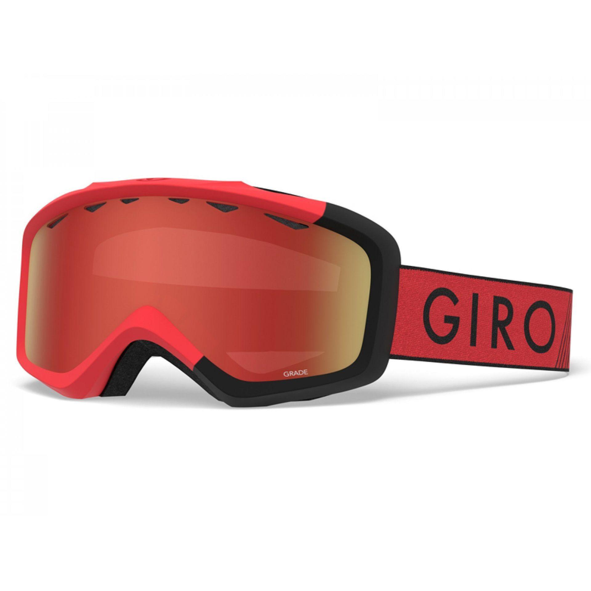 GOGLE GIRO GRADE RED BLACK ZOOM|AMBER SCARLET 1