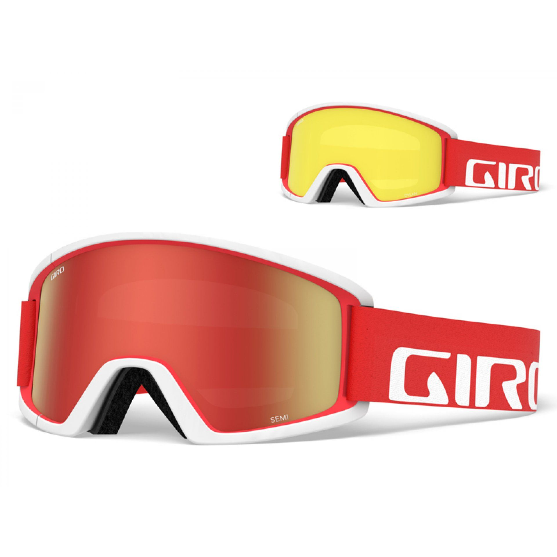 GOGLE GIRO SEMI RED WHITE APEX|AMBER SCARLET 1